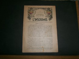 PRESSE CLANDESTINE - L'INSOUMIS N°35 Du 11 Novembre 1943 - L'Armistice - - Documents
