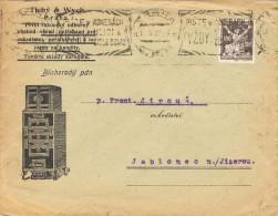 17199. Carta PRAHA (Checoslovaquia) 1922. Comercial Tychy And Wych - Checoslovaquia