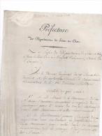 Réquisition De Fourrage Par Le Maire De SAINT - OUEN L'AUMÔNE ( 95 )  En  1814 , Pour Les Troupes Nationales - Saint Ouen L'Aumone