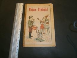 PLAISIRS D'ENFANTS - Brochure De 6 Feuillets Illustrés Couleurs + Poésies - Pas D'éditeur -pas De Date - Circa 1900 - Libros, Revistas, Cómics