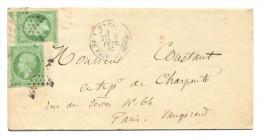 Etoile De Paris 9, R. DU FAUBg-St.-HONORE, LAC Pour Paris-Vaugirard, 3-2-1866 - Marcophilie (Lettres)