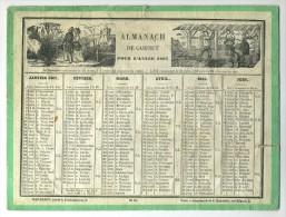 Almanach De Cabinet 1867. Mac-Henry, Rue De La Parcheminerie,2. Imprimerie E. Martinez. Voir état. - Calendarios