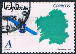 Espagne - Drapeau Et Carte De La Galice 4081 (année 2009) Oblit. - 1931-Aujourd'hui: II. République - ....Juan Carlos I