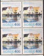 Norway Norge 1995 Nordic Tourist Stamps, Scenery Skudeneshavn Mi 1176 Two Pairs, MNH(**) - Norvegia