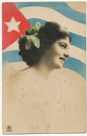 Mujer Bonita Con La Bandera Cubana - Cuba