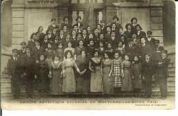 CPA MONTCEAU LES MINES Groupe Artistique Syndical De 1912 5956 - Montceau Les Mines