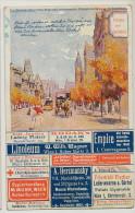 Advert Card Gruss Aus Used 3 Stamps From Guatemala To Austria Wien , Kodak, M. Munk, Linoleum Wagner, Silk Herzmansky - Guatemala