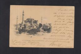Turquie Carte Postale Constantinople 1900 Pour L'Italie - Poststempel (Briefe)