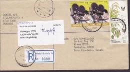 Malaysia Sabah Registered Label KOTA KINABALU 2000 Cover Brief FANØ Denmark Readressed RINGKØBING Movie Making (2 Scans) - Sabah