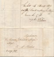 648/23 - NETHERLANDS Prephilatelic Cover HULST Zeeland 1827 To ST NICOLAES Belgium - Buiten De Post - Pays-Bas
