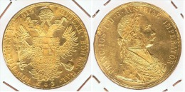AUSTRIA FRaNCISCO JOSE I 4 DUCADOS 1915 ORO GOLD A56 - Austria