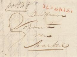 650/23 - NETHERLANDS Prephilatelic Cover DEVENTER 1819 To MARKEL - Manuscript Port 4 - Pays-Bas