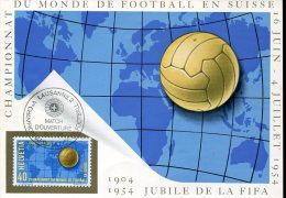 6378 Switzerland, Card 1954 Special Postmark 16.6.1954 Opening Day , Football World Champ. 1954 - Coupe Du Monde