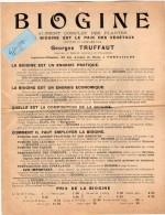 VP3517 - Document Commercial - Le Biogine & L´Insecticide + Renseignements  George TRUFFAUT à VERSAILLES - France