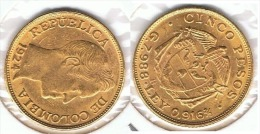 COLOMBIA 5 PESOS 1924 ORO GOLD A 59 - Colombia
