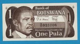 BOTSWANA 1 PULA ND (1983)  Serie A/11  P# 6a  President Sir Ketumile (Quett) Masire - Botswana