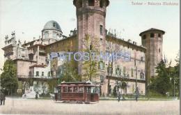 33906 ITALY TORINO TURIN PIAMONTE PALACE MISTRESS & TRAMWAY TRAM TRANVIA  POSTAL POSTCARD - Italie