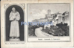 33908 ITALY ASSISI PERUGIA RELIGIOUS CONVENT S. FRANCESCO SPOTTED POSTAL POSTCARD - Italie