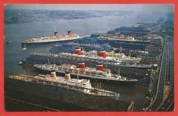 CPM États Unis - The Port Of New York - Transports