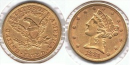 EE.UU. USA 5 DOLLARS 1881 ORO GOLD A 61 - L. Oro