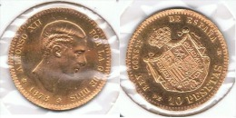 ESPAÑA ALFONSO XII 10 PESETAS 1878 ORO GOLD A31 - [ 1] …-1931 : Reino