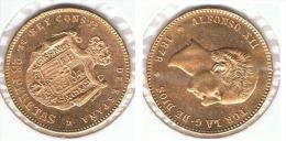 ESPAÑA ALFONSO XII 25 PESETAS 1878 ORO GOLD A39 - [ 1] …-1931 : Reino