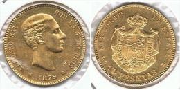 ESPAÑA ALFONSO XII 25 PESETAS 1879 ORO GOLD A42 - [ 1] …-1931 : Reino