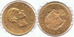 ESPAÑA ALFONSO XII 25 PESETAS 1879 ORO GOLD A43 - [ 1] …-1931 : Reino