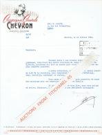 Lettre  Illustrée 1962 CHEVRON - COMPAGNIE GENERALE DE CHEVRON - Sin Clasificación