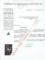 Lettre 1950  IXELLES - FABRIQUE DE MEUBLES EN FER RICHEL - Sin Clasificación