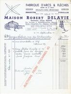 Lettre 1951 JEMAPPES - Maison Robert DELAVIE - Fabrique D'arcs Et Flèches, Brouettes, échelles - Unclassified