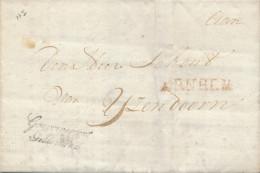 652/23 - NETHERLANDS Prephilatelic Franchise Cover ARNHEM 1819 To IJZENDOORN - Linear Gouvernement Gelderland - Pays-Bas