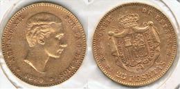 ESPAÑA ALFONSO XII 25 PESETAS 1880 ORO GOLD A78 - Colecciones