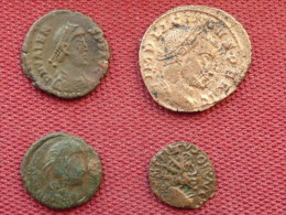 Lot De 4 Monnaies à Identifier !!!!!!!!!! - Antique