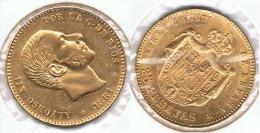 ESPAÑA ALFONSO XII 25 PESETAS 1881 ORO GOLD A47 - Colecciones