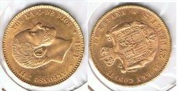 ESPAÑA ALFONSO XII 25 PESETAS 1881 ORO GOLD A49 - Colecciones