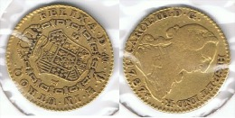 ESPAÑA CARLOS III  ESCUDO  1787 MADRID ORO GOLD A7 - Colecciones
