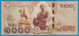 THAILAND 1000 BAHT BE 2558 (2015)  SERIAL 9A   King Rama IX    P# NEW - Thailand