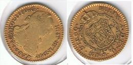 ESPAÑA CARLOS III  ESCUDO  1787 SEVILLA ORO GOLD A6 - [ 1] …-1931 : Reino