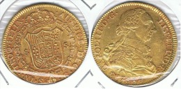 ESPAÑA CARLOS III 8 ESCUDOS SEVILLA 1786 ORO GOLD A 71 - [ 1] …-1931 : Reino
