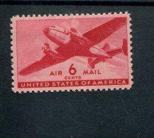 227968431 SCOTT C25  POSTFRIS MINT NEVER HINGED POSTFRISCH EINDWANDFREI - TWIN MOTORED TRANSPORT PLANE - 2b. 1941-1960 Ungebraucht