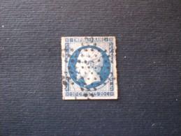 STAMPS FRANCIA 1852  LUIGI NAPOLEONE III 20 CENT BLUE OTTIMA CENTRATURA - 1852 Louis-Napoléon