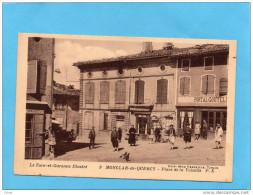 Montclar De Quercy-place De La Volaille-animée Commerces -coutellerie Portal,café édition  Verdeille-a Voyagé   En 1945 - Montclar De Quercy