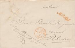 659/23 - NETHERLANDS 5 X Unfranked Cover ARNHEM 1857 /1861 , Wv 4 X Franchise Officier Van Justitie