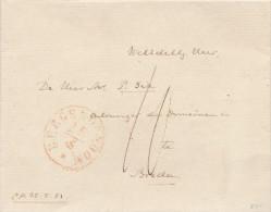 660/23 - NETHERLANDS 4 X Unfranked Cover BERGEN OP ZOOM 1850 /1855