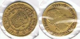 ESPAÑA CARLOS III ESCUDO NUEVO REINO COLOMBIA 1776 ORO GOLD A 77 - [ 1] …-1931 : Reino