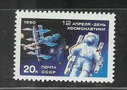 Russia 1990 Mnh Cosmonaunts´ Day - Space