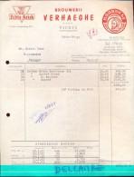 Factuur Facture - Brouwerij Verhaeghe Vichte - Kriek - 1961 - Belgique
