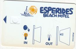 GREECE - Esperides Beach, Hotel Keycard, Sample(no Chip) - Hotel Keycards