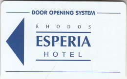 GREECE - Rhodos Esperia, Hotel Keycard, Sample(no Chip)